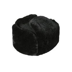 Шапка зимняя офицерская черная (сукно, искуственный мех)