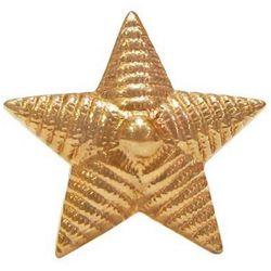 Звезда на погоны металл. рифленая, 20 мм, зол.