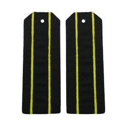 Погоны ВМФ офисные черные, 2 желтых просвета (рип-стоп)