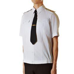 Рубашка форменная белая н/о с коротким рукавом