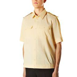 Рубашка форменная ВМФ нового образца, с коротким рукавом, кремового цвета.