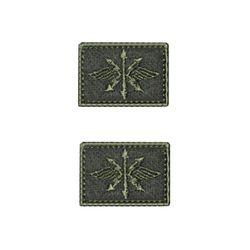 Нашивки петличные Войска Связи, оливковые с оливковым кантом, на липучке