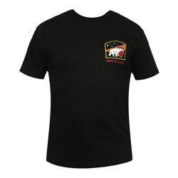 Футболка с вышивкой Морская пехота (медведь), черная