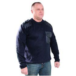 Джемпер форменный синий, с накладками