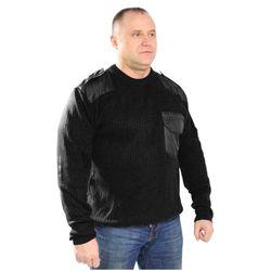Джемпер форменный черный, с накладками