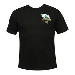 Футболка с вышивкой Военно-морской флот, черная