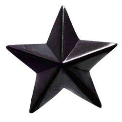 Звезда на погоны пласт. на закрутке, большая 20 мм, иссиня-черная