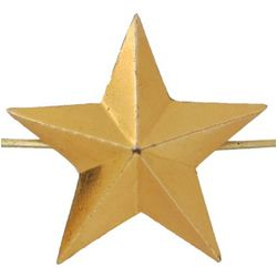 Звезда на погоны металл., большая 20 мм, зол.
