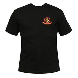 Футболка с вышивкой Морская пехота, черная