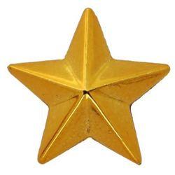 Звезда на погоны пласт. на закрутке, большая 20 мм, зол.