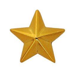 Звезда на погоны пласт. на закрутке, малая 13 мм, зол.