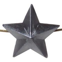 Звезда на погоны металл., большая 20 мм, серо-синяя
