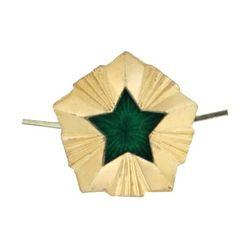 Звезда на погоны металл.ФССП, малая 13 мм, зол. с эмалью
