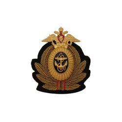 Кокарда ВМФ РФ, канитель, латунь