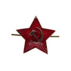 Звезда на головной убор СА, красная, большая 34 мм, эмаль