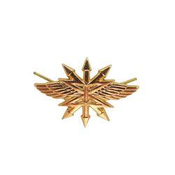 Эмблема петличная металл. Войска Связи, зол.