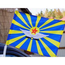 Флаг ВВС СССР 30*40 автомобильный шелковый