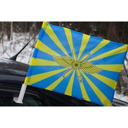 Флаг ВКС России 30*40 автомобильный шелковый