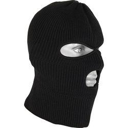 Шапка - маска однослойная обшитая М10, черная