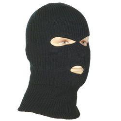 Шапка - маска двухслойная, черная