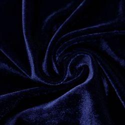Ткань бархат синяя, 40*47