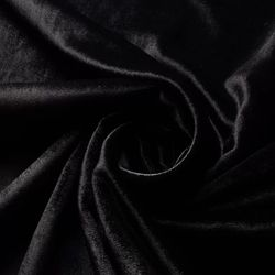 Ткань бархат черная, 40*47