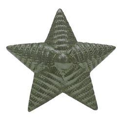 Звезда на погоны металл. рифленая, 20 мм, зеленая