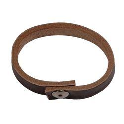 Шлевка кожанная (тренчик) для ремня, коричневого цвета.
