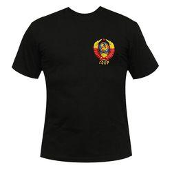 Футболка с вышивкой СССР, черная