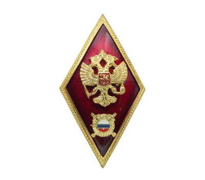 Значок мет. МВД (высшая школа полиции), латунь, эмаль