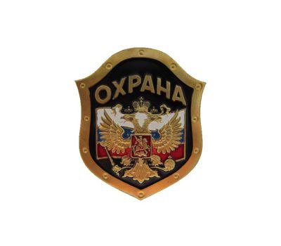 """Нагрудный знак """"Охрана"""" флаг с орлом, эмаль"""