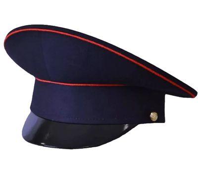 Фуражка Полиция, темно-синяя с красным кантом