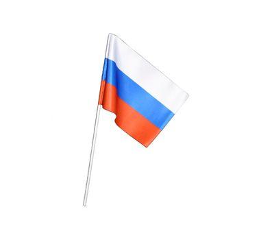 Флаг России шелковый 15*23 на палочке