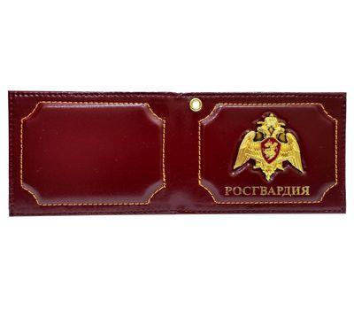 Обложка для документов Росгвардия с жетоном, кожа
