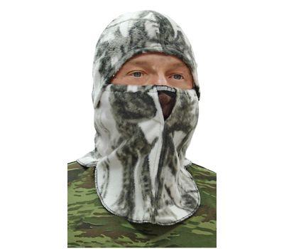 Шапка - маска Буран, флисовая, белый лес